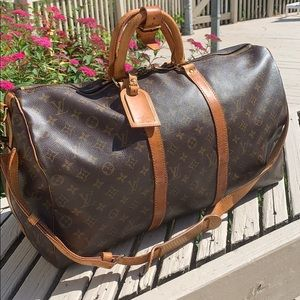 Louis Vuitton Bandouliere Monogram Keepall Travel